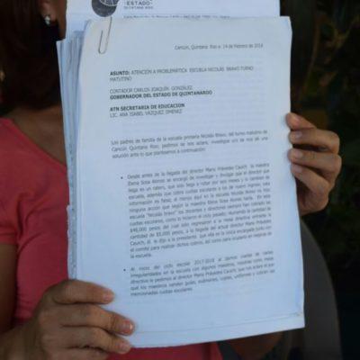 Denuncian padres de familia abuso de maestros de la primaria Nicolás Bravo en Región 102