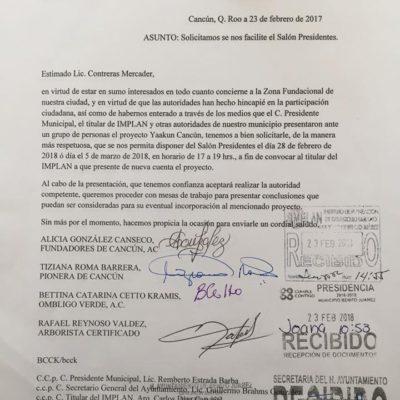 Ciudadanos de Cancún piden conocer el proyecto Yaa Kun a Ayuntamiento