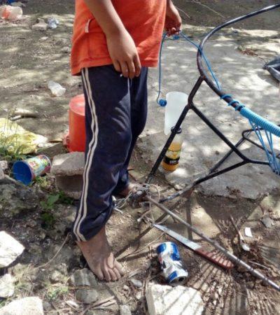 Menores encadenados ya están bajo resguardo del DIF en Cancún
