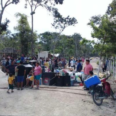 Intento de desalojo azuza a invasores que enfrentan a policía de Tulum