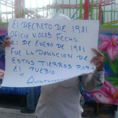 Invasores de predio en Tulum piden intervención de EPN y Carlos Joquín