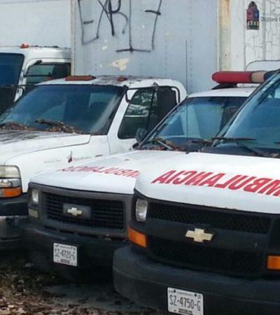 Exigen ejidatarios a Sesa les devuelvan su ambulancia