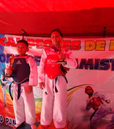 Felipe Carrillo Puerto sobresale en taekwondo