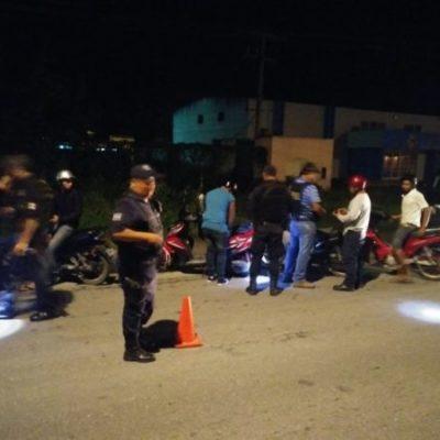 Por carecer de documentos, 5 motocicletas se van al corralón en Cozumel
