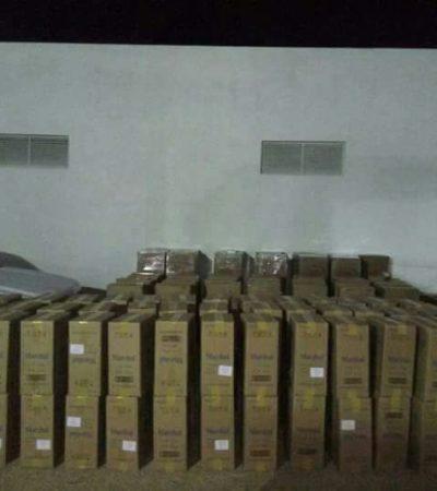 Dos millones de cigarrillos ilegales son decomisados por Policía Federal en el sur de Quintana Roo