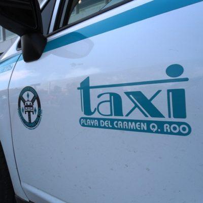Rubén Aguilar Gómez, Juan Román Flores Euan, Bruno López Herrera y Rafael Canul Pérez buscan dirigir a taxistas de Playa del Carmen