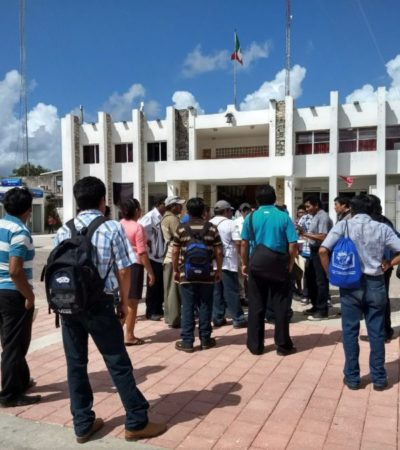 Ejidatarios de Carrillo Puerto exigen inclusión en programa de entrega de maíz en Sedarpe