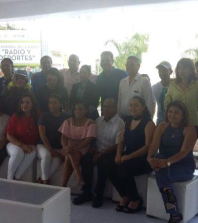 Bajo la mirada de José Martí, radiodifusoras celebran su día en Cancún