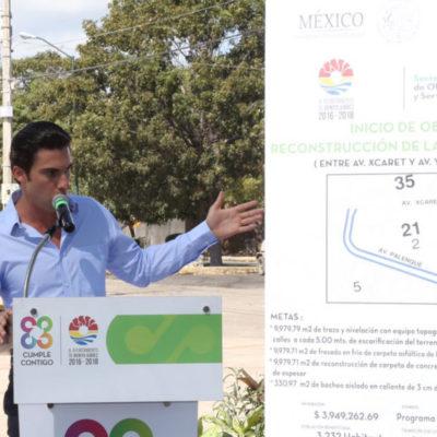 Inicia Ayuntamiento de Cancún reconstrucción de la Avenida Palenque