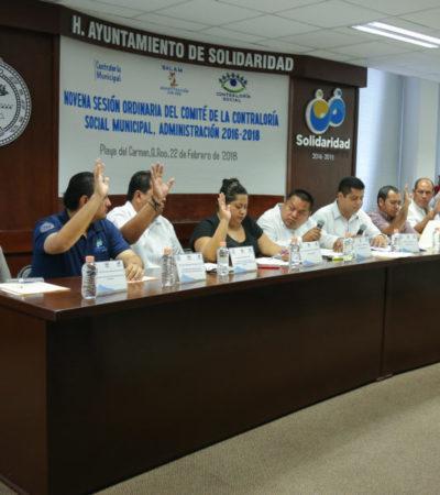 Avala comité de ciudadanos 74 obras públicas en Solidaridad