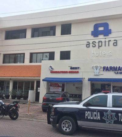 Extranjero se suicida en hotel de Playa del Carmen