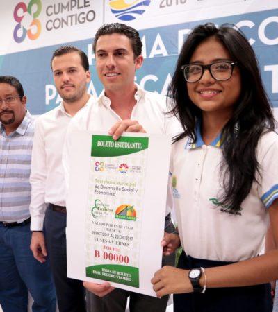 INICIA PROCESO PARA SOLICITAR BECAS ESCOLARES: Asignarán 500 becas para apoyar a estudiantes en Cancún