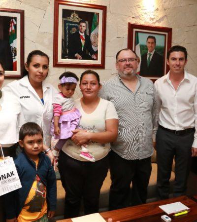 Gestionan donación de un aparato auditivo con valor de más de 30 mil pesos para una niña de año y medio en Cancún