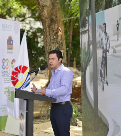 Supervisa Alcalde construcción de Foro Cultural Na'at