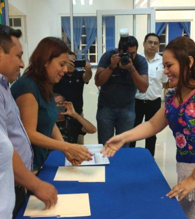 Formaliza Alcaldesa Perla Tun su registro para buscar la reelección en Cozumel