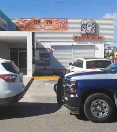 Asaltan pizzería de la SM 61 en Cancún