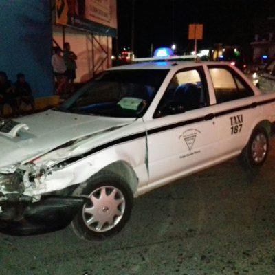 Policía dispara a taxistas después de causar un accidente