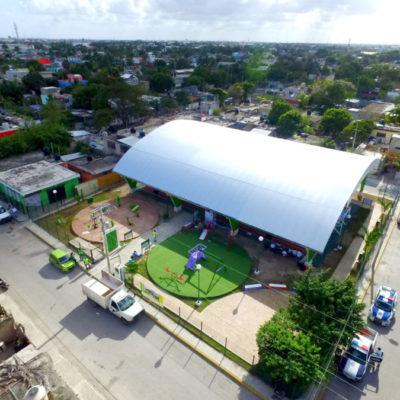 Con una inversión de 2.7 mdp, entregan un domo deportivo, ahora en la SM 240 de Cancún