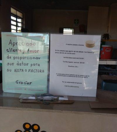 Aumenta precio de tortilla en Chetumal