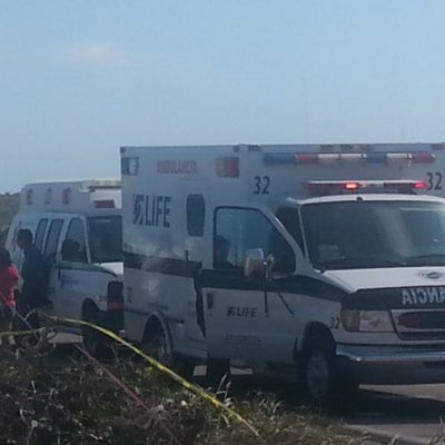 Muere turista en choque en Cozumel
