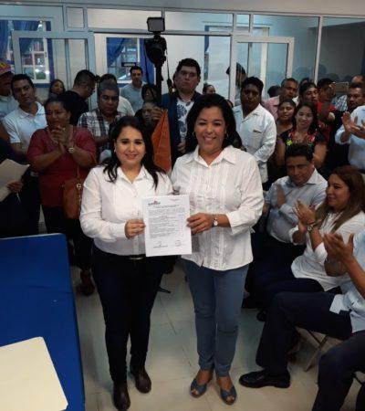 Se registra Mayuli Martínez como precandidata al Senado por la alianza PAN-PRD-MC