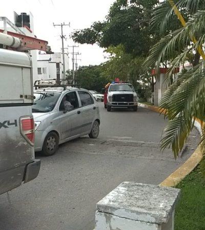 Sufre descarga eléctrica trabajador en fraccionamiento Sol Mayab de Cancún