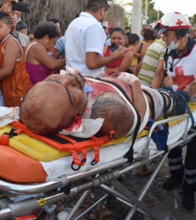 Atacan a machetazos a presunto integrante de la banda de 'Los Sureños' en la Región 234 de Cancún