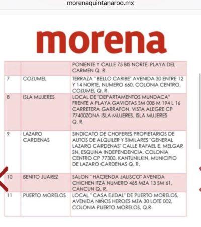 Celebrará Morena asambleas municipales el 11 de febrero