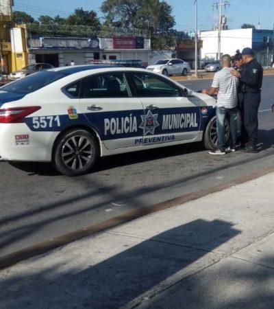 Tras asaltar a una mujer, detienen a ladrón en la Avenida Yaxchilán