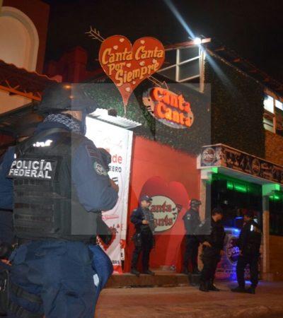 OPERATIVO DE FEDERALES EN LA YAXCHILÁN DE CANCÚN: Catean agentes de la Unidad Antidrogas el bar 'Canta Canta'