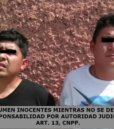 Detienen a dos empistolados en la Región 91 de Cancún