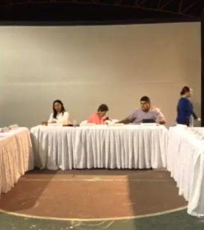 PERLA BOTA AL CABILDO: Ante cuestionamientos, Alcaldesa opta por abandonar sesión en Cozumel