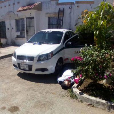 DOBLE EJECUCIÓN FRENTE A 'EL TORITO': Sin importar la cercanía de la policía, balean a dos hombres en Cancún, uno de ellos taxista