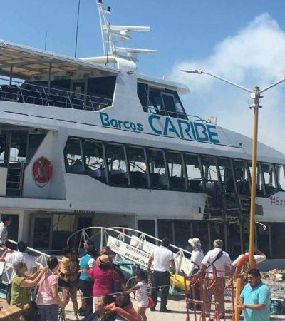 Dice Marisol Vanegas que no hay riesgo para turistas tras la explosión en Barcos Caribe