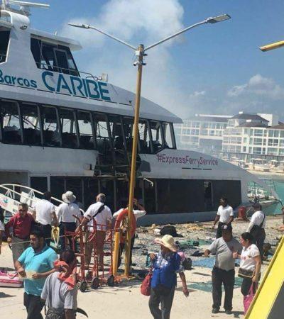 """Califica Martínez Arcila de """"reprobable"""" decir que explosión de barco fue intencional"""