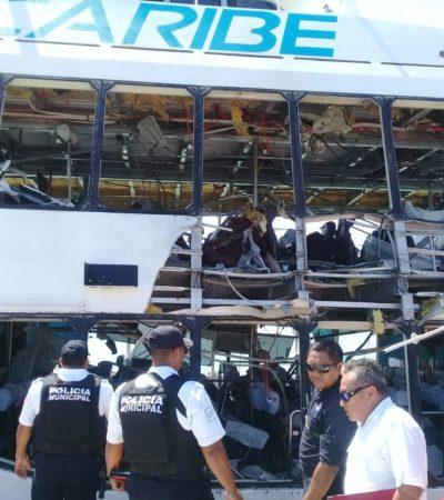 FUERON 24 AFECTADOS POR LA EXPLOSIÓN: Investiga la Fiscalía estallido en el muelle fiscal de Playa de Carmen