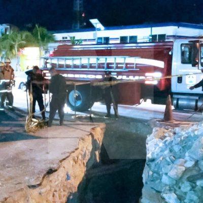 NEGLIGENCIA MORTAL EN TULUM: Muere un hombre al caer en una zanja sin señalización en las obras de remodelación de la principal avenida de este destino