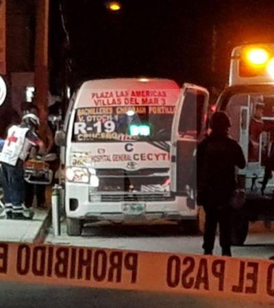 ATAQUE ARMADO A LAVADERO DE AUTOS EN LA 245: Muere en el hospital mujer que viajaba en una combi del transporte público y que fue alcanzada por balas en Cancún; dos hombres, heridos