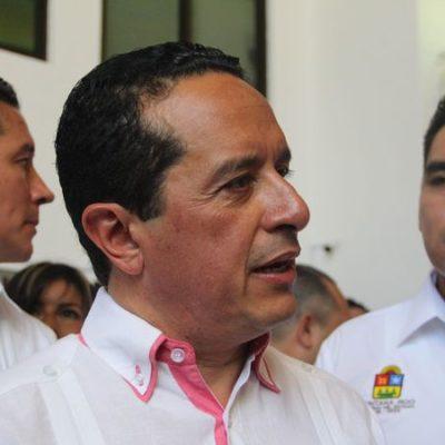 """Está Gobernador """"al pendiente"""" de la decisión que tome el 'Frente' para designar candidato en Cancún"""
