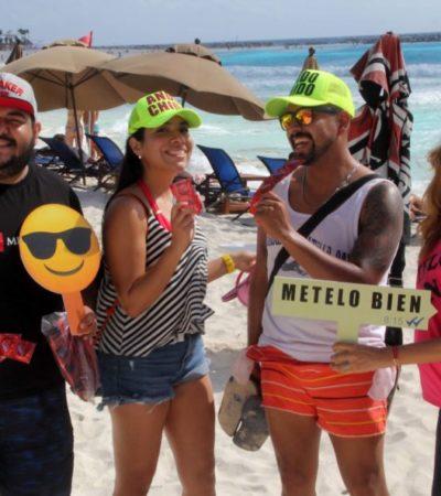"""""""Mételo bien"""", campaña de salud sexual, inicia en Playa Gaviota Azul"""