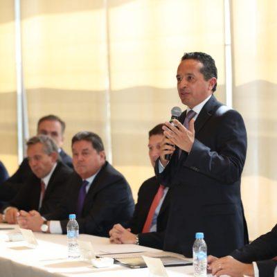 Se reúne Gobernador con empresarios de Nuevo León para promover el desarrollo de inversión en Quintana Roo