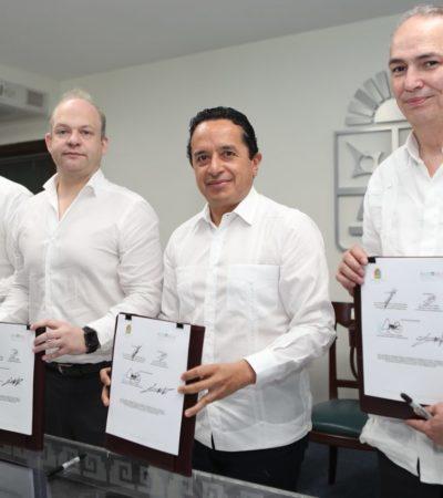 VAN POR MÁS INVERSIÓN PARA QR: Firman convenio de colaboración entre la Agencia de Proyectos Estratégicos y Banobras