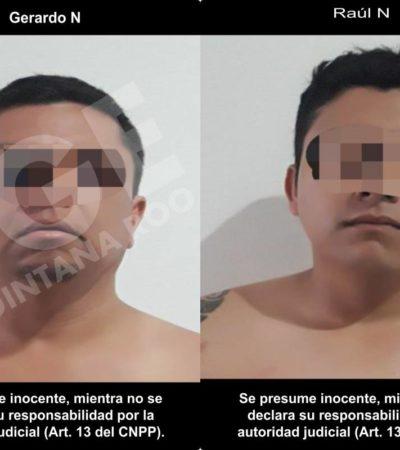 Detienen en Playa del Carmen a dos imputados por el delito de extorsión