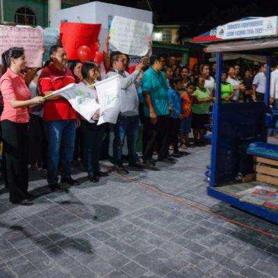 Entrega Alcaldesa calles de concreto hidráulico en Leona Vicario