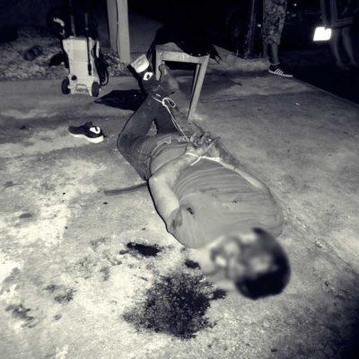 CANSADOS DE LA INSEGURIDAD EN PLAYA: Presunto ladrón es golpeado y amarrado por vecinos de Pescadores Plus