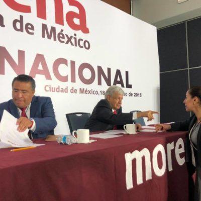 Marybel Villegas y José Luis Pech, candidatos de Morena al Senado; Gregorio Sánchez sin posibilidades dentro de la alianza 'Juntos Haremos Historia'