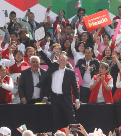 """""""QUIERO SER PRESIDENTE PARA QUE MÉXICO SEA POTENCIA"""": En un deslucido acto, Meade se convierte en candidato del PRI"""