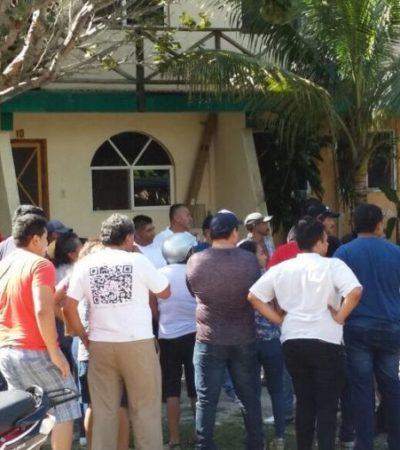 Priistas allegados a Edgar Gasca Arceo revientan asamblea de Morena en Isla Mujeres
