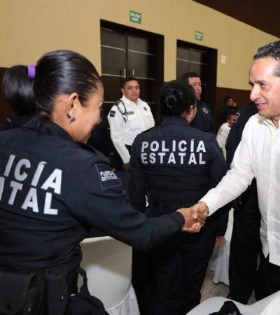 Anuncia Gobernador mejores prestaciones para policías: Aumento en el seguro de vida, becas para los hijos y un incremento salarial