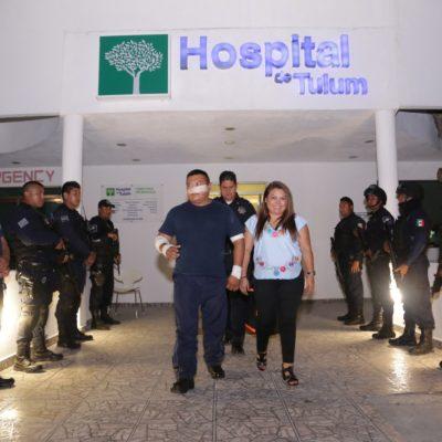 Refrenda Alcaldesa apoyo a heroicos policías en Tulum